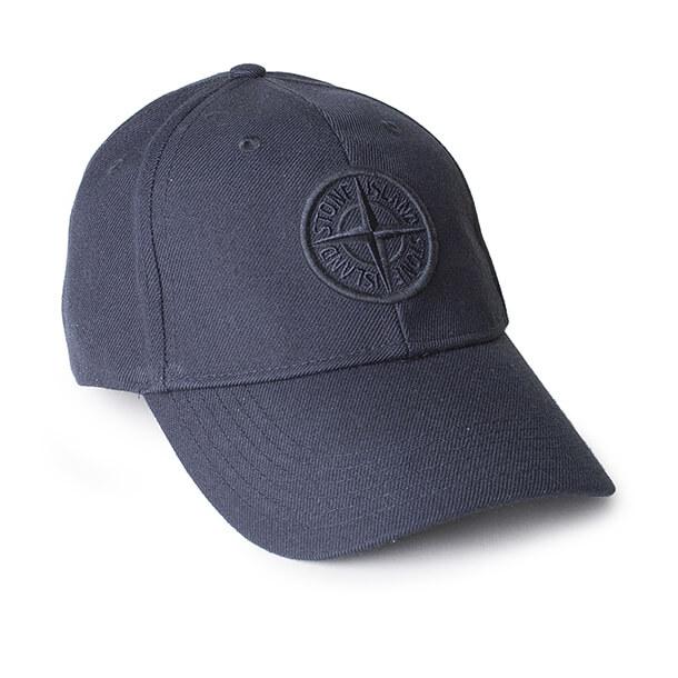 Stone Island Cap Navy - Med Navy logo