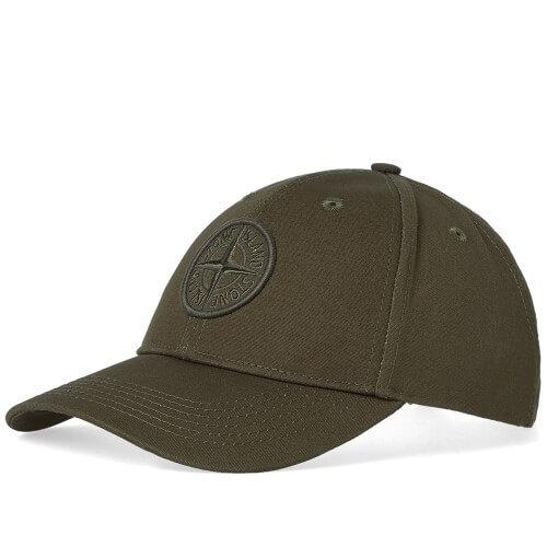 Stone Island Logo Cap - Military Green (3)