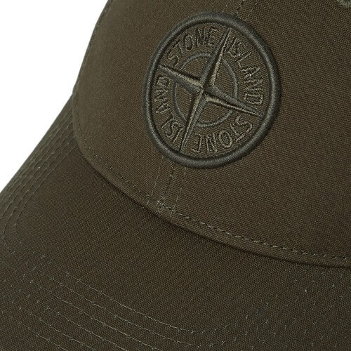 Stone Island Cancas Logo Cap - Military Green