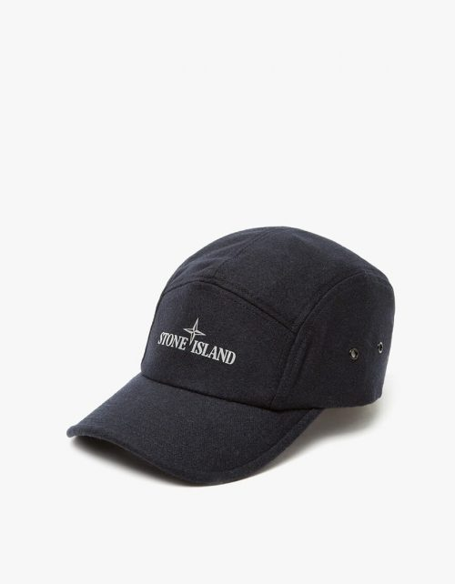 Stone Island Cap_navy_wool_front