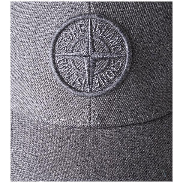 Stone Island cap_grey_logo