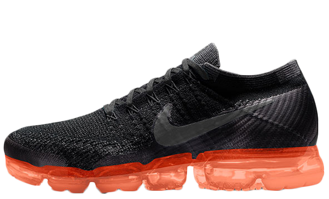 Nike Air Vapormax Black with orange air