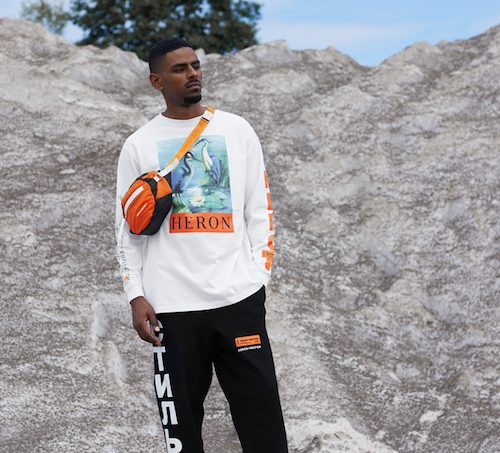 FOR YOU, THE WORLD: THE HERON PRESTON AW17 COLLECTION hvid orange trøje